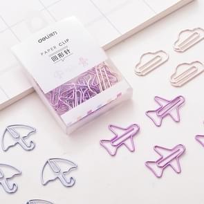 2 Boxes Deli Shaped Colorful Paper Clip Cute Creative Paper Clip