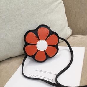 Mini Messenger Bag Cute Floral Kids Small Coin Purses Children Handbags Shoulder Bags(Orange)