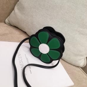 Mini Messenger tas schattig Floral Kids kleine munt portemonnees kinderen handtassen schoudertassen (mint groen)
