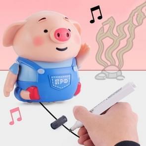 Volg robot muziek en licht elektronische Toy pen inductief speelgoed nieuwigheid kinderen educatief speelgoed (varken)