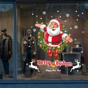 Christmas Window Glass Window Bedroom Living Room Santa Claus Decoration Sticker