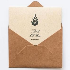 3 set retro Mid-herfst festival Thanksgiving wenskaart Business bericht kaart envelop set (sectie F)
