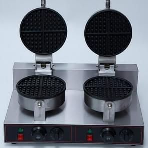 XC-HF-2 commerciële elektrische dubbele kop wafel kachel vlees wafel machine met timing  specificatie: 500 x 380 x 260 MM