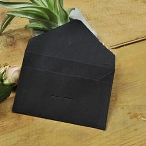 10 PCS Creative Vintage Kraft Business Card Storage Envelope(Black)