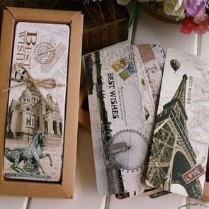 2 PCS Retro Nostalgic Exotic Creative Classical Tower Paper Bookmarks