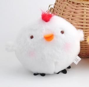 3 PC'S schattige kleine gele kip pluche kleine hanger schattig pluche speelgoed opknoping ornamenten pop (wit)