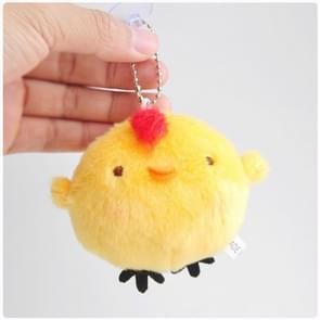 3 PC'S schattige kleine gele kip pluche kleine hanger schattig pluche speelgoed opknoping ornamenten pop (geel)