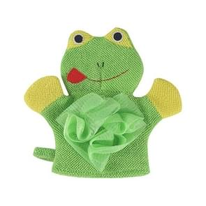 Baby Double-sided Bathing Backing Gloves Decontamination Children Bath Towel(Green)