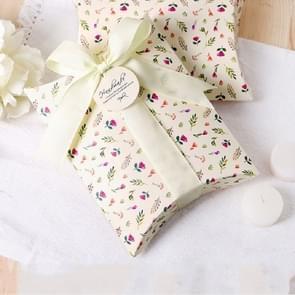 10 stuks Floral Candy box cookie vouwen vak (beige bloemen)