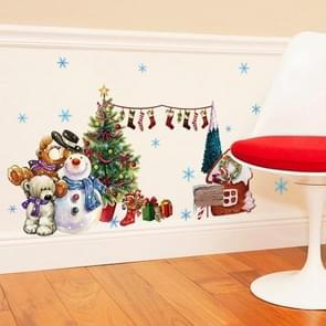 Santa Claus Wall Stickers Decorated Window Glass Door and Window Wall Stickers