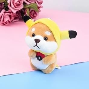 Pluche Akita autosleutel hanger cute cartoon Shiba Inu hond rugzak charme pop cadeau (Pokémon Shiba Inu)