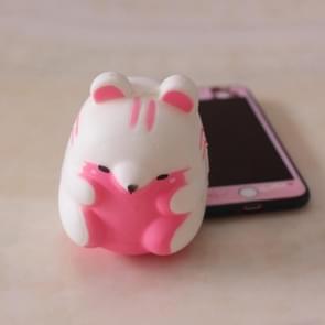 PU simulatie hamster model Slow rebound zachte en Kneadable decompressie Toy Crafts (roze)