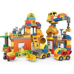 Bouw truck graafmachine grote deeltjes bouwstenen kinderen baby onderwijs DIY speelgoed 183 PC'S (Engineering Bouw)