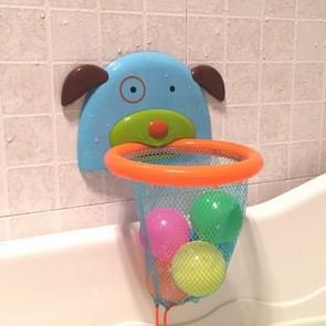 Cartoon Dog-shaped Basketball Frame Children Playing Water Shooting Combination Toy, Color:Ocean Ball Version