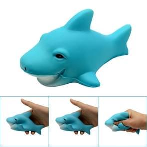Rebound Shark PU simulatie dierlijke walvis kan persen druk vent speelgoed  grootte: 13x7cm