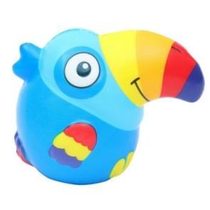 Slow rebound Toucan PU simulatie dierlijke decompressie ambachten speelgoed  kleur: blauw
