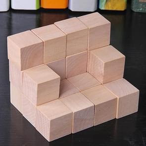 50 STKS/set hout kleur elementaire school wiskunde onderwijs steun kubus kubus schimmel stereo herkenning graphics tool, grootte: 2cm