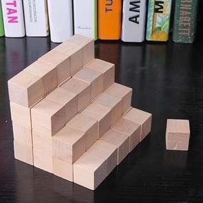 100 STKS/set hout kleur elementaire school wiskunde onderwijs steun kubus kubus schimmel stereo herkenning graphics tool, grootte: 1.5 cm