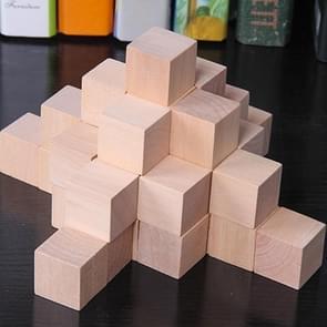100 STKS/set hout kleur elementaire school wiskunde onderwijs steun kubus kubus schimmel stereo herkenning graphics tool, grootte: 2cm