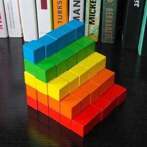 50 STKS/set kleurrijke elementaire school wiskunde onderwijs steun kubus kubus schimmel stereo herkenning graphics tool, grootte: 2cm