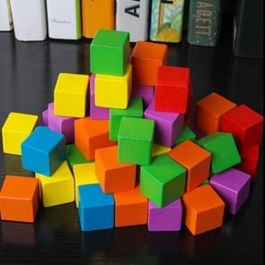 100 STKS/set kleurrijke elementaire school wiskunde onderwijs steun kubus kubus schimmel stereo herkenning graphics tool, grootte: 2cm