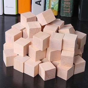 100 STKS/set hout kleur elementaire school wiskunde onderwijs steun kubus kubus schimmel stereo herkenning graphics tool, grootte: 1cm