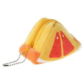 Driehoek pluche fruit creatieve drie-dimensionale schattige kinderen veranderen tas sleutel tas cadeau (oranje)