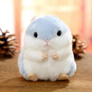 Schattige hamster sleutelhanger tas hanger pluche pop (licht blauw)