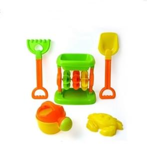 5 in 1 Hourglass Beach Toy Set Children Play Sand Play Water Tools(As Shown)