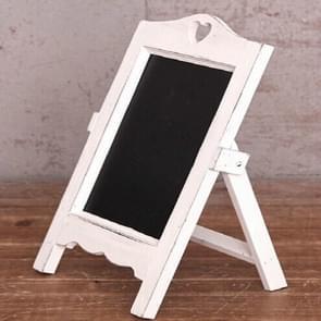 Multifunctioneel houten bureaublad memo message blackboard  grootte:35 Ã20Ã12cm(Wit)