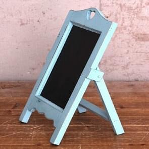 Multifunctioneel houten bureaublad memo message blackboard  grootte:35Ã20Ã12cm(Blauw)