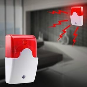 Geluid en licht brandalarm Hoorn Anti Diefstal Knipperend licht Alarm Zoemer (Rood)