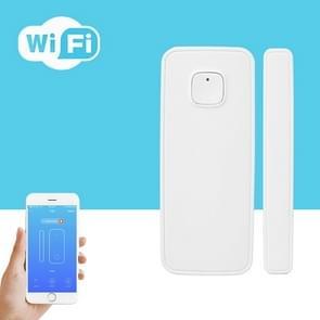 Draadloze WiFi-alarmdeur- en raamsensordetectie Smart Home Security Door Magnetic Switch System(Wit)
