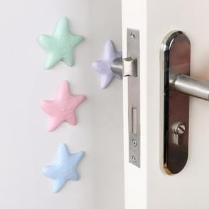 8 PCS Starfish Silicone Door Back Handle Wall Mute Crash Pad Thickened Toilet Cover Protective Pad, Color Random Delivery