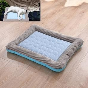 Summer Ice Silk Nest Pads Small and Medium-sized Multifunctional Cool Pet Nest Dog Cat Pad, Size:S(Bule)