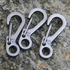 10 PCS SF Version Simple Mini Spring Hanging Buckle Keychain Buckle, Suitable for within 5mm Umbrella Rope(Gun Color)