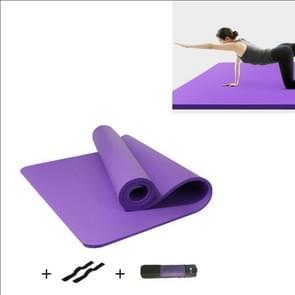 Paarse mannen en vrouwen beginners Home non-slip yoga mat met bandjes & tutorial & netto tas  grootte: 1850 x 900 x 15mm
