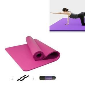 Roze mannen en vrouwen beginners Home non-slip yoga mat met bandjes & tutorial & netto tas  grootte: 1850 x 900 x 15mm