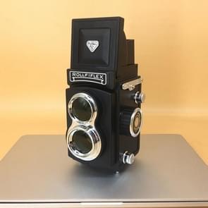 Double Reflex Camera Model Retro Camera Props Decoraties Handheld Camera Model (Zwart (origineel))
