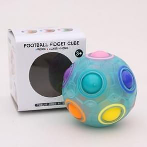 Magische Rainbow Ball lichtgevende Edition training hand hersenen coördinatie Fun Cube kinderen speelgoed (lichtgevende blauw)