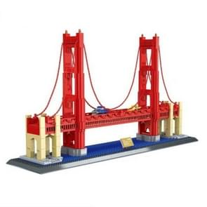 Large Building Model Small Particles Building Blocks Assembling Children Toys(Golden Gate Bridge)