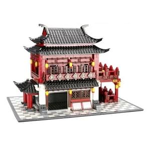 Large Building Model Small Particles Building Blocks Assembling Children Toys(Zhonghua Building Upstairs)
