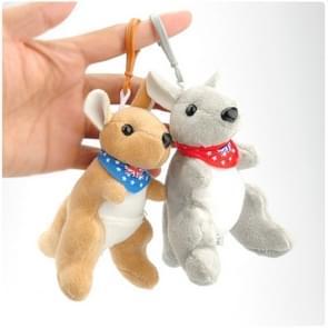 Kleine hanger pop speelgoed Kangaroo pluche sleutelhanger  kleur willekeurige levering  grootte: 12cm