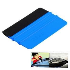 3 stuks blauw vilt schraper auto folie reinigingsgereedschap  grootte: 10 × 7cm (blauw)