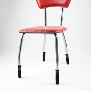24 STKS stoel benen gebreide anti-slip vloerbescherming Cap Antiscratch sokken cover (zwart)