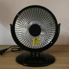 Small Sun Mini Home Office Heater 6 inch Electric Heater National Standard Plug, Specification:without Cable(Black)