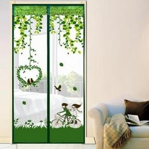 Summer Anti-Mosquit Curtain Encryption Magnetic Screen, Size:90x210cm(Green)