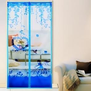 Zomer Anti-Mosquit Curtain Encryptie Magnetisch scherm  Grootte:100x210cm(Blauw)