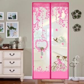 Summer Anti-Mosquit Curtain Encryption Magnetic Screen, Size:100x210cm(Pink)