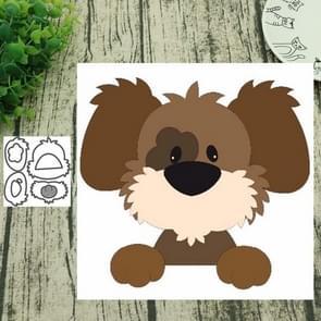 2 PCS Mane Dog Carbon Steel Knife Die Cutting Book Album Greeting Card Making Embossing Die